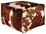 Signature Design by Ashley A1000300 Tegan Pouf, Dark Brown/White/Black