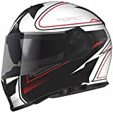 Torc T14B Blinc Loaded Stryker Mako Full Face Helmet (Flat White with Graphic, X