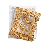 Anyana vintage Picture large baroque mirror picture Frame Photo corner scroll silicone chocolate mold cake Fondant mold for Sugar paste wedding cake decorating tools Non stick easy to use