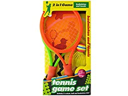 Bulk Buys OD871-12 2 In 1 Badminton and Tennis Game Set