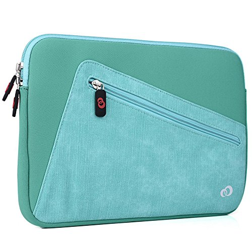 "Kroo Vortex Sleeve W/Accessory Pocket fits Polaroid 9-inch, S9, Ematic 10"" Genesis Prime XL Tablet (Aqua Green Universal Case) -  EnvyDeal, ND11VXG1
