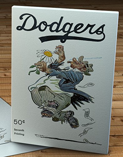 1951 Vintage Brooklyn Dodgers Bum Program - Canvas Gallery Wrap - 11 x 14