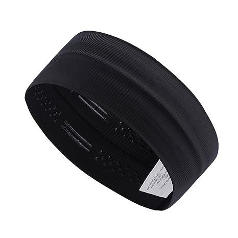 LEOTER 3 PCS Sports Headbands Set of Non-slip Bands and Wide Sweatbands...