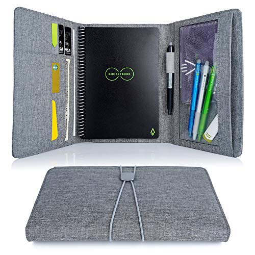 4518d110237c Folio Cover for Rocketbook Everlast, Wave, Executive Size, Water-resistant  Fabric, Multi Organizer with Pen Loop, Zipper Pocket, Business Card Holder,  ...