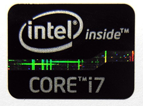 Original Intel Core i7 Inside Sticker Black Edition 15.5 x 21mm [620] by VATH (Image #1)