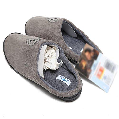 Algodón Zapatos Calientan Antideslizante Silenciosos Para En Extremo 44 Zapatillas Goma Los Las De La Invierno Hombres El SYEWAw6