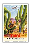 Pacifica Island Art To the Great Southwest - Fly TWA Trans World Airlines - Vintage Airline Travel Poster by Frank Soltesz c.1950s - Master Art Print - 12in x 18in