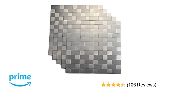 Amazon Top Mosaic Peel And Stick Tile Backsplashes Stainless