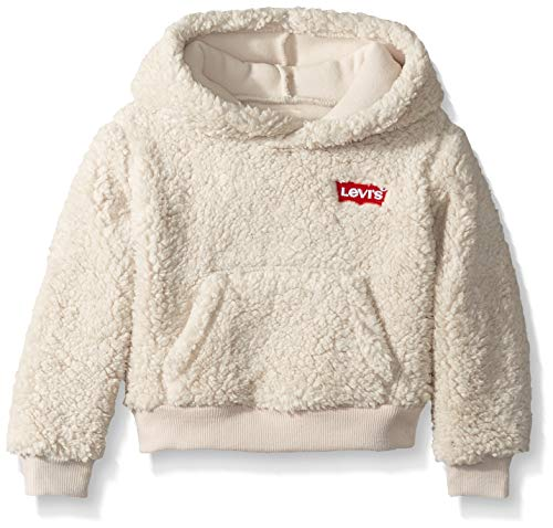 - Levi's Girls' Little Sherpa Hoodie, Moonbeam, 4