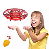 CPSYUB Hand Operated Kids Drone, Hands Free Mini Drone Helicopter for Kids with 4 Sensors, Flying Drone Kids Toys for 4, 5, 6, 7, 8, 9, 10 Year Old Boys or Girls Gifts (Red)