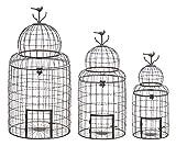 Best Woodland Imports Bird Cages - Deco 79 55123 3-Piece Metal Decorative Planter Set Review