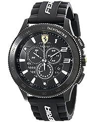Ferrari Mens 830242 Scuderia XX Black Watch with Silicone Strap