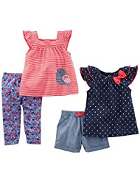 ff3edf61880 Simple Joys por Carter s Baby Girls  Infant 4 Piezas Playwear Set