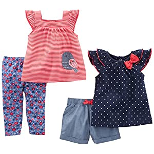 Simple-Joys-by-Carters-Baby-Girls-Infant-4-Piece-Playwear-Set