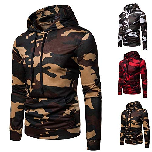 Innerternet Sweat Kaki Blousons Camouflage Manches Pull shirts Automne Autumne Outwear Capuche Longues Mens Tops Casual À TrZTPq