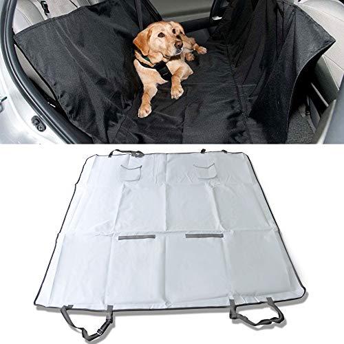 Dog Cat Pet Back Seat Cover Hammock Protector Mat Blanket Gray by IKON MOTORSPORTS ()
