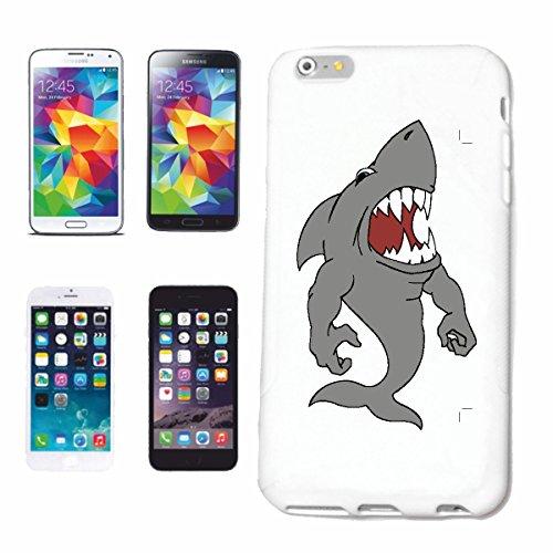 "cas de téléphone iPhone 7+ Plus ""FURIOUS WHITE HAI MEGALODON BLEU SHARK Hammerhai BLACK LACE RIFF HAI HAI HAI WAL MAKO"" Hard Case Cover Téléphone Covers Smart Cover pour Apple iPhone en blanc"