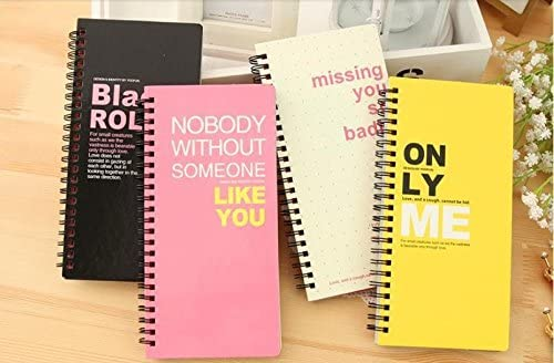Amazon.com : Cute Spiral/coil Colorful Notebook Dairy ...