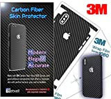 Carbon Fiber 3M 1080 Film iPhone Skin Protective wrap Around Edges Cover Black Skin for iPhone 7, 7 Plus, 8, 8 Plus, X, XR, Xs Max(iPhone 7)