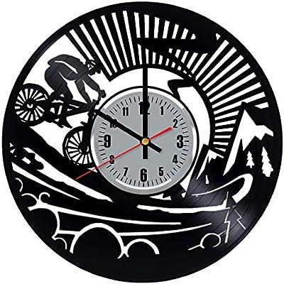 Art Patelnia Reloj de Pared de Vinilo para Bicicleta, diseño de ...