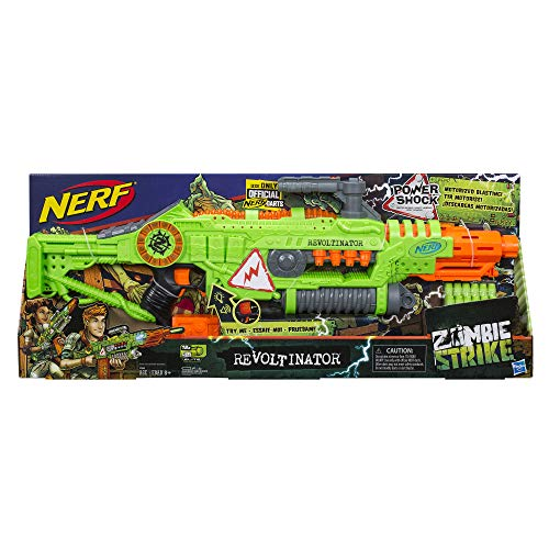 514j95tmv5L - NERF Revoltinator Zombie Strike Toy Blaster with Motorized Lights Sounds & 18 Official Darts for Kids, Teens, & Adults