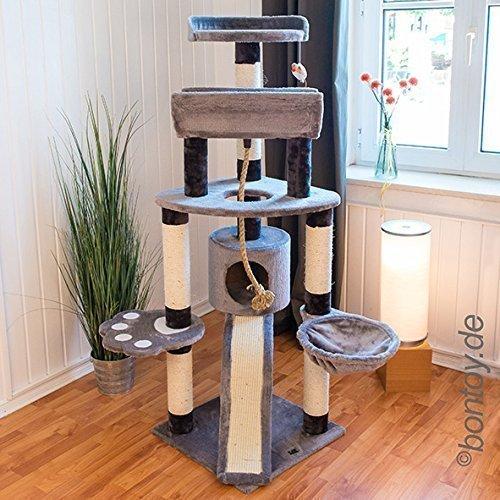 Bontoy Kratzbaum LOU Grau 145 cm PaDOGS