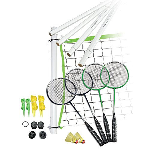 Franklin Sports Badminton Set - Includes 4 Steel Raquets, 1 Net, 2 Shuttlecocks, and 1 Carry Bag - Starter, Family, and Professional Set Options
