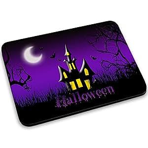 Halloween 10009, Castillo, Designer Alfombrilla de Ratón Mouse Mouse Pad con Diseño Colorido. Tamaño 250 x 190 mm.