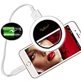 Raphycool Selfie Light Ring Lights 36 LED Circle Light Clip On Phone Charger 1500mAh Power Bank Rechargeable Compatible with Cell Phone Laptop Camera Photography Video Lighting Black