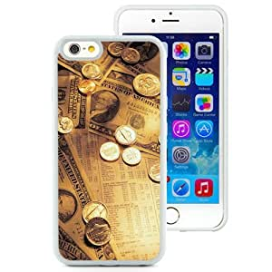 NEW Unique Custom Designed iPhone 6 4.7 Inch TPU Phone Case With Old Money Coins Bills_White Phone Case