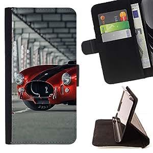 Momo Phone Case / Flip Funda de Cuero Case Cover - Cobra Sports Car;;;;;;;; - Samsung Galaxy S4 IV I9500