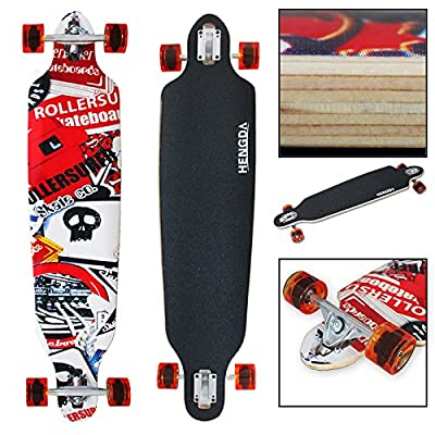 '41Longboard Skateboard minic ruise Board Top Mount Rétro Old freeriding Street HD de montre de 00641* 9,5(Gr)