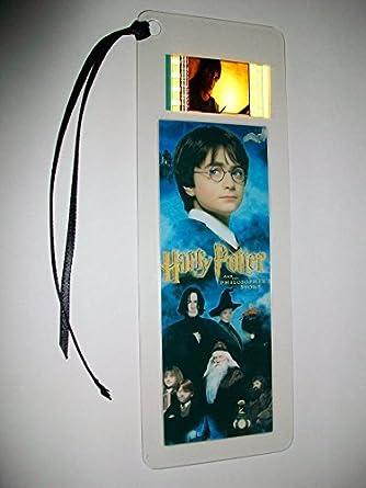 Harry Potter Sorcerors Stone Movie Film Cell Bookmark Memorabilia At