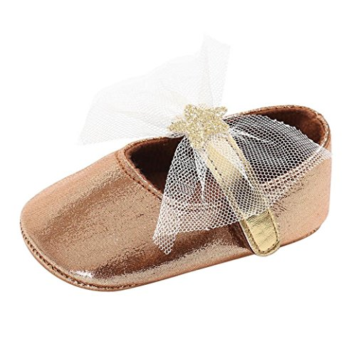 SMYTShop Baby Girl Toddler Infant Newborn Sweet Crib Shoes Soft Sole Sneakers 0-18 Months (0~6 Month, Coffee)