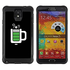 All-Round Hybrid Rubber Case Hard Cover Protective Accessory Compatible with SAMSUNG GALAXY NOTE 3 - full mug black IT service