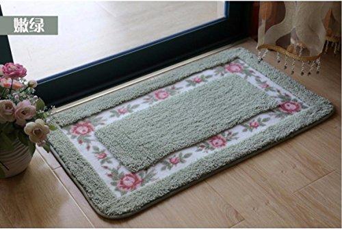 Bathroom water-absorbing mats floor mats door mats door bathroom kitchen -4060cm Green by ZYZX