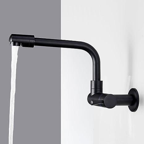 Neilyn Rame nero pieno allungare i rubinetti rubinetto a parete ...