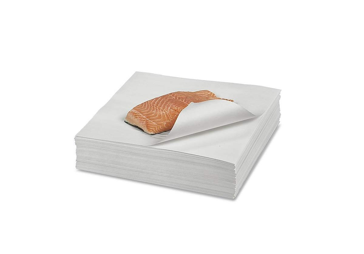 12'' x 12'' Butcher Paper White Disposable Wrapping or Smoking Meat - 1000 Sheets