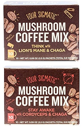 Four Sigmatic Mushroom Coffee   2 Pack Variety With Cordyceps   Chaga And Lions Mane   Chaga  2 Boxes  10 Packets Each
