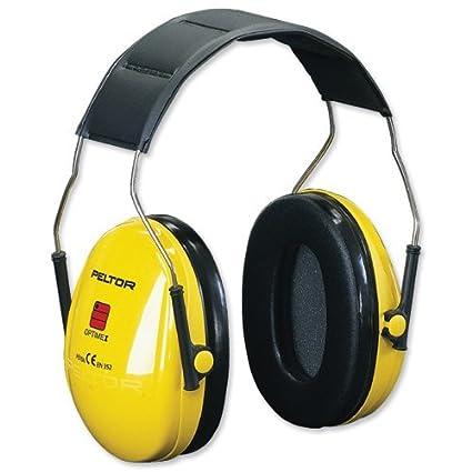 Auriculares antirruido orejeras de plástico anti-Shock acolchado de goma pluma. Ancho ajustable.