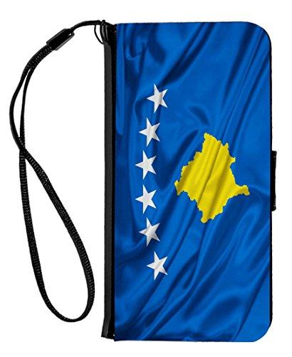 Rikki Knight diseño de bandera de Kosovo iPhone 6& 6s PU solapa de funda tipo portafolios con función atril y cierre...