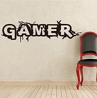 Gamer World Extra/íble para Net Bar Salas de Estar Dormitorio Sala de Juegos y Paredes de Ni/ños Decoraci/ón de Fondo Adhesivo de Pared Gamer Boy Adhesivos de Pared de Videojuegos