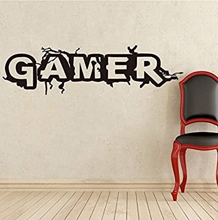 Wall Sticker Decals   Wall Sticker Quotes Removable Wall Decor GAMER For Living  Room, Bedroom