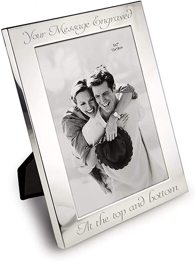 Personalised Engraved Wedding Silver Plated Photo Frame Custom Father of the Bride Gift 7 x 5