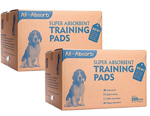 All-Absorb 200 Count Bulk Packaging Training Pads, 22'' x 23'' (400-Count) by All-Absorb