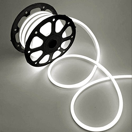 WYZworks White Flexible Water Resistant Soft Single Side LED Neon Rope Light Strip Bar 150FT by WYZworks