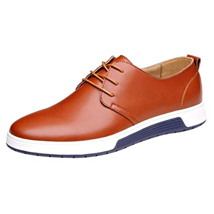 9364645074f9a Amazon.com: Mens Hollow Solid Leather Shoes Men's Summer Breathable ...
