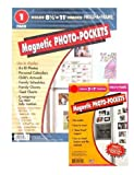 Set of One 8.5'' x 11'' and Two 5'' x 7'' Magnetic Photo Frames for Use on Metal Surfaces