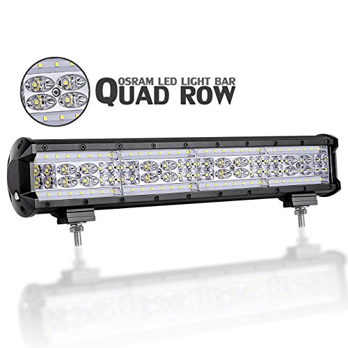 Quad Works Power Box (LED Light Bar, DJI 4X4 18'' 336W Quad Row Off Road LED Driving Lights Spot Flood Combo Beam Fog Lights OSRAM LED Work Light Waterproof for Trucks Jeep ATV UTV SUV Marine, 2 Years Warranty)