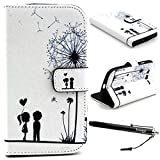 Galaxy Grand NEO Case, I9060 Case, Speedtek Lovers Pattern Premium PU Leather Wallet Flip Protective Skin Case with Magnetic Closure for Samsung Galaxy Grand NEO I9060 (2014) (Built-in Credit Card/ID Card Slot)